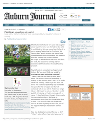 Publishing's a marathon, not a sprint | Auburn Journal (dragged)